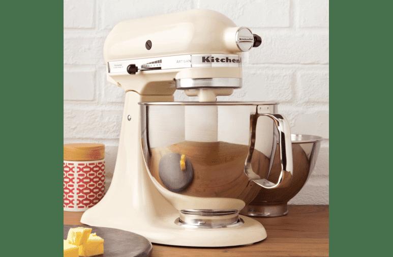 Kitchenaid 5ksm160psaac Artisan Stand Mixer Almond Cream At The Good Guys