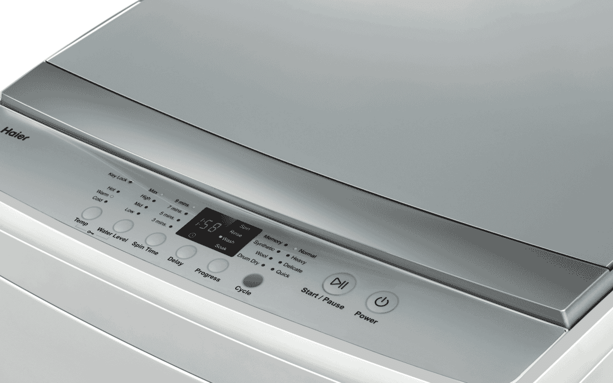 Haier Hwt70aw1 7kg Top Load Washer At The Good Guys Dryer Repair Diagram Additionally Wine Cooler Parts From Delicates To Regular Washes Activate Your Preferred Wash Option A Touch Of Button With Memory Program Feature