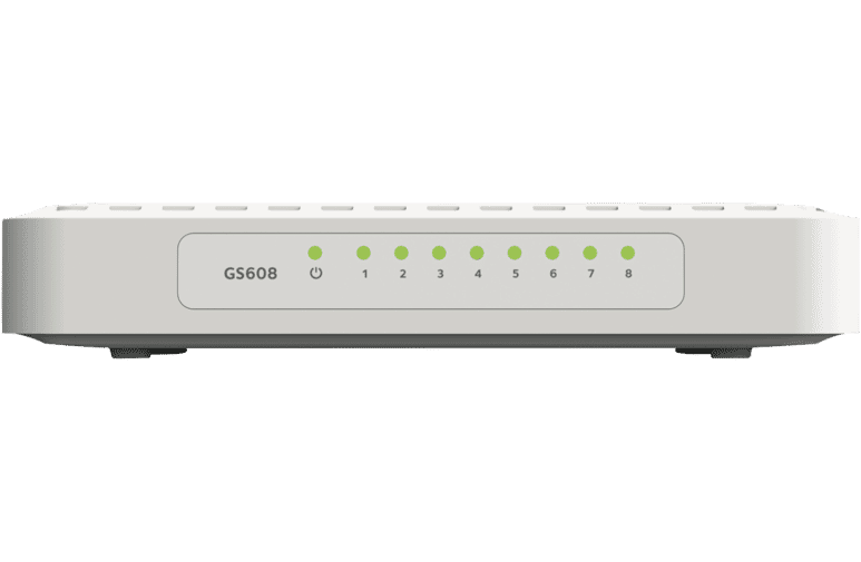 Netgear GS608 8-port Gigabit Ethernet Desktop Switch at The Good Guys