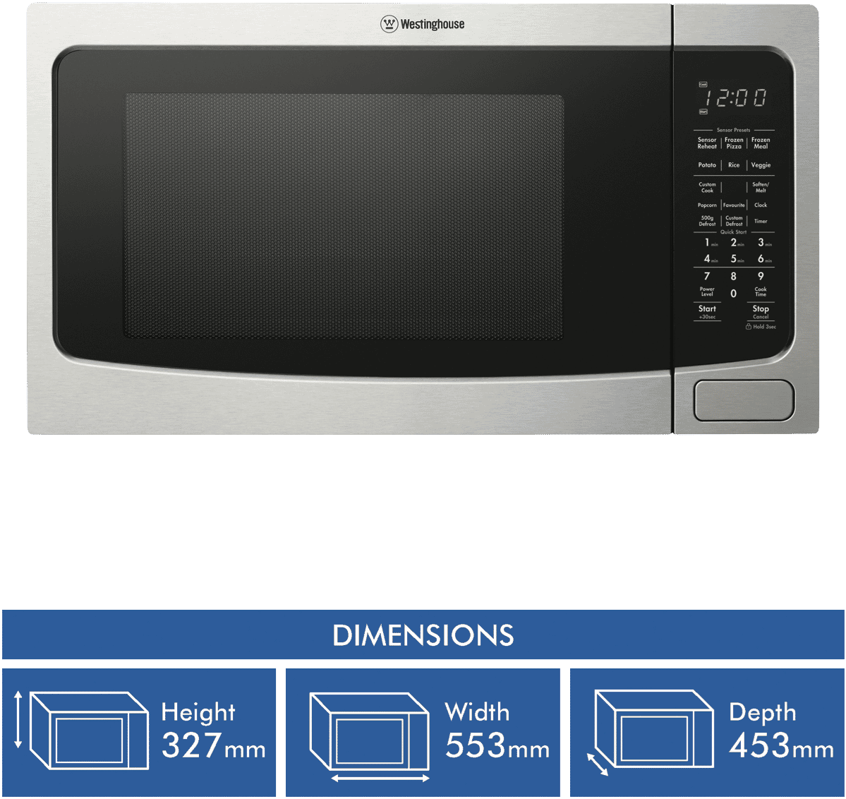 40l 1100w Stainless Steel Microwave