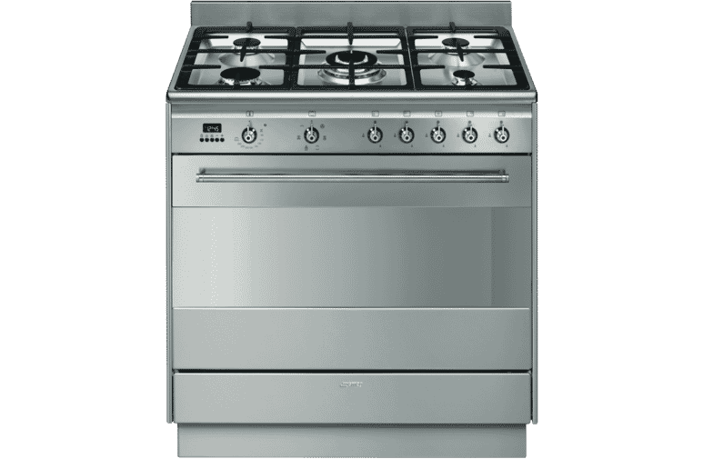 Smeg Fs9606xs 90cm Dual Fuel Upright Cooker At The Good Guys