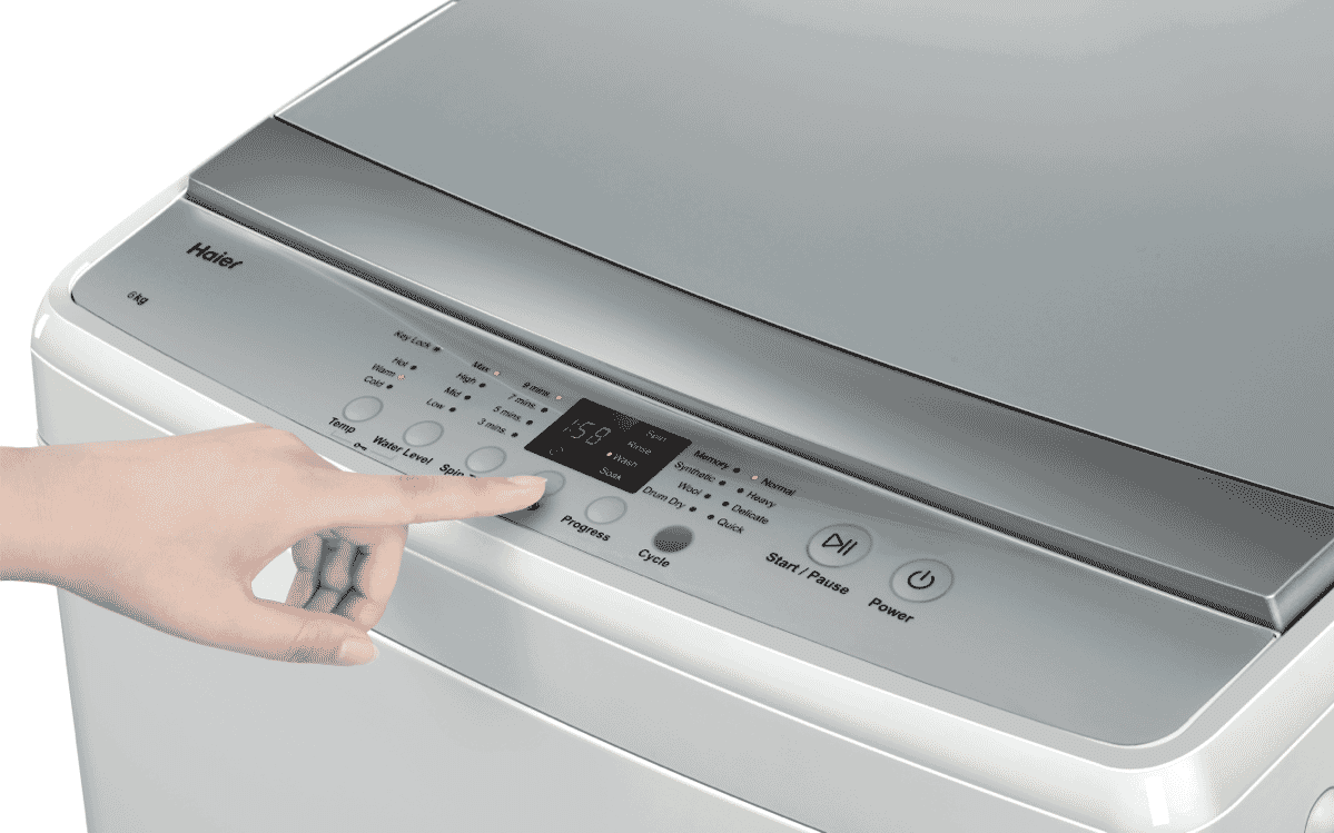 Haier HWT60AW1 6kg Top Load Washer at The Good Guys