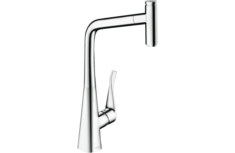 Hansgrohe 14884003 Metris Select Pull Out Mixer at The Good Guys