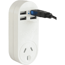 Jackson4 USB Charger with Mains Power Outlet 1 Amp50049121