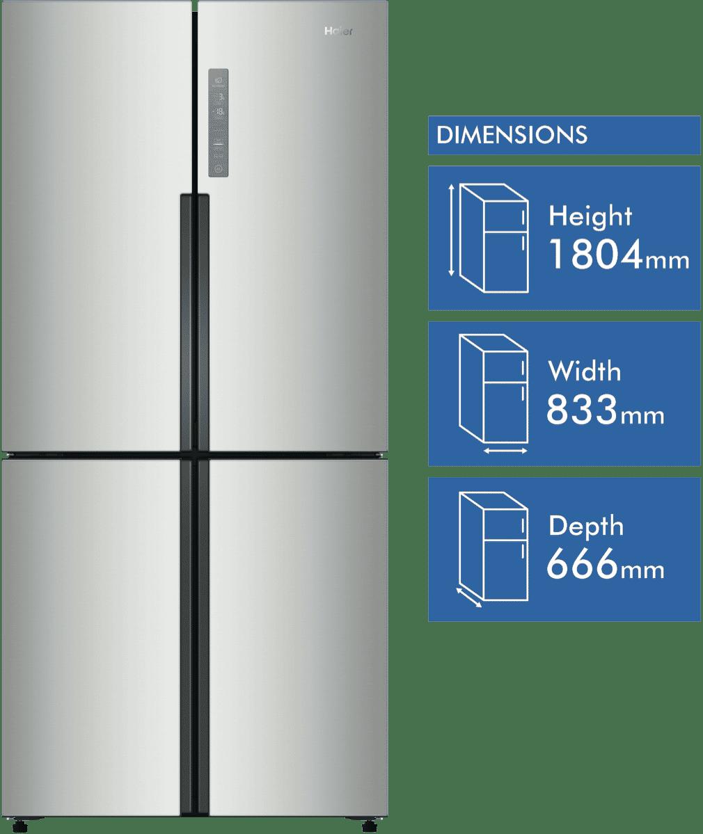 New Haier Hrf516ys 514l French Door Refrigerator