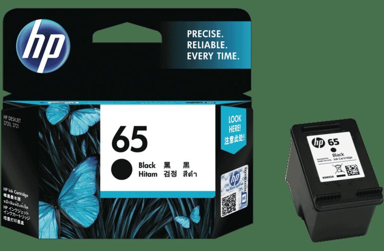 HP N9K02AA 65 Black Ink Cartridge at The Good Guys