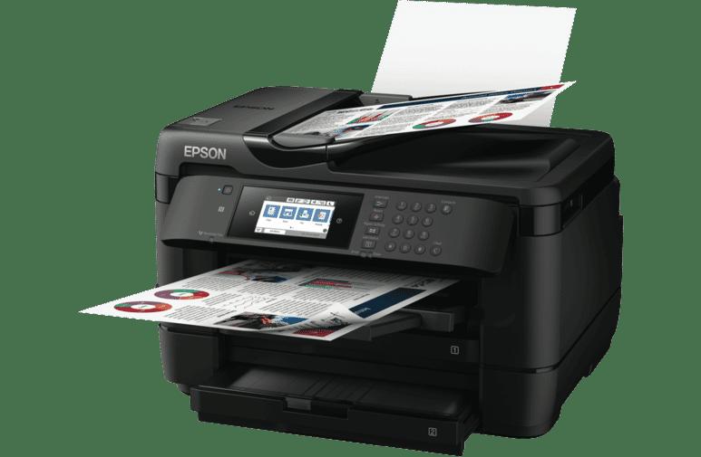 Fabriksnye Epson WF-7725 Workforce Wireless A3 Inkjet MFC Printer WF-7725 UC-68
