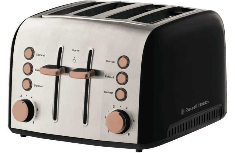 russell hobbs rht94cop brooklyn 4 slice toaster copper at the good