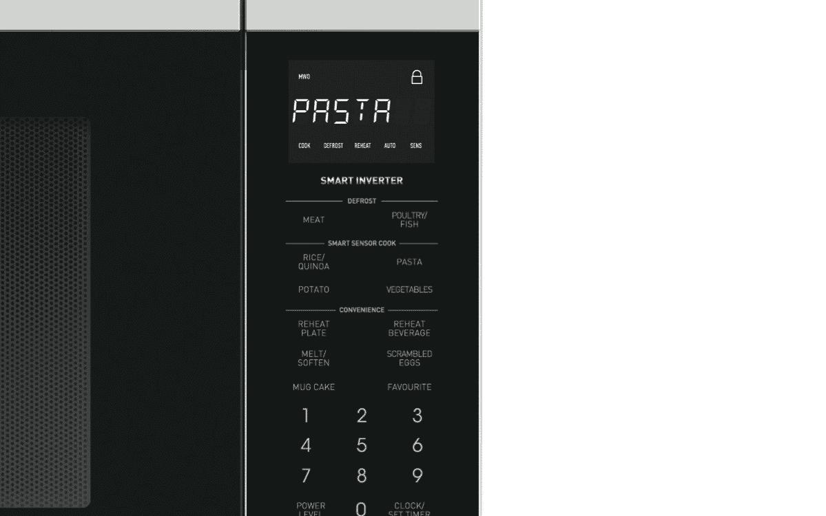 Sharp R350EW 1200W Inverter Microwave - White at The Good Guys