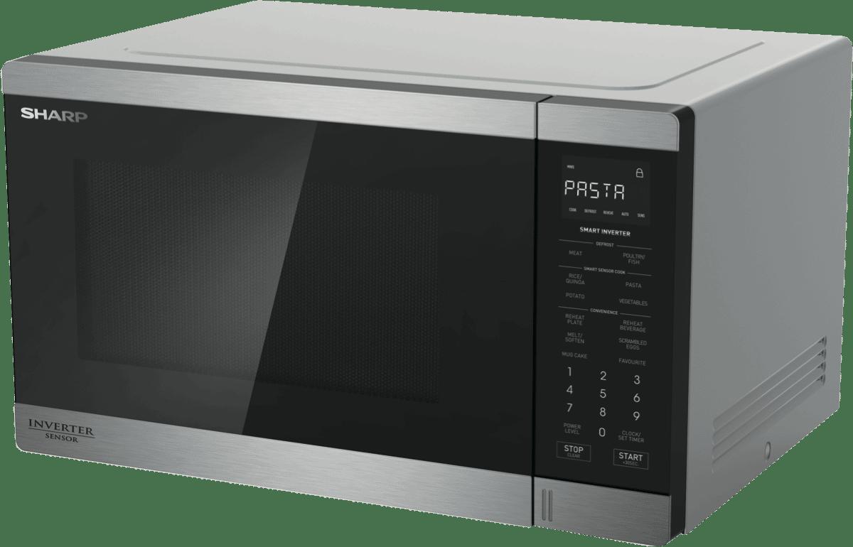 New Sharp R395est 1200w Stainless Steel Inverter Microwave