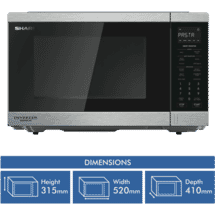 Sharp 1200w Stainless Steel Inverter Microwave
