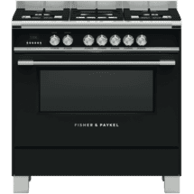 Fisher & Paykel90cm Dual Fuel Freestanding Cooker Black50060711