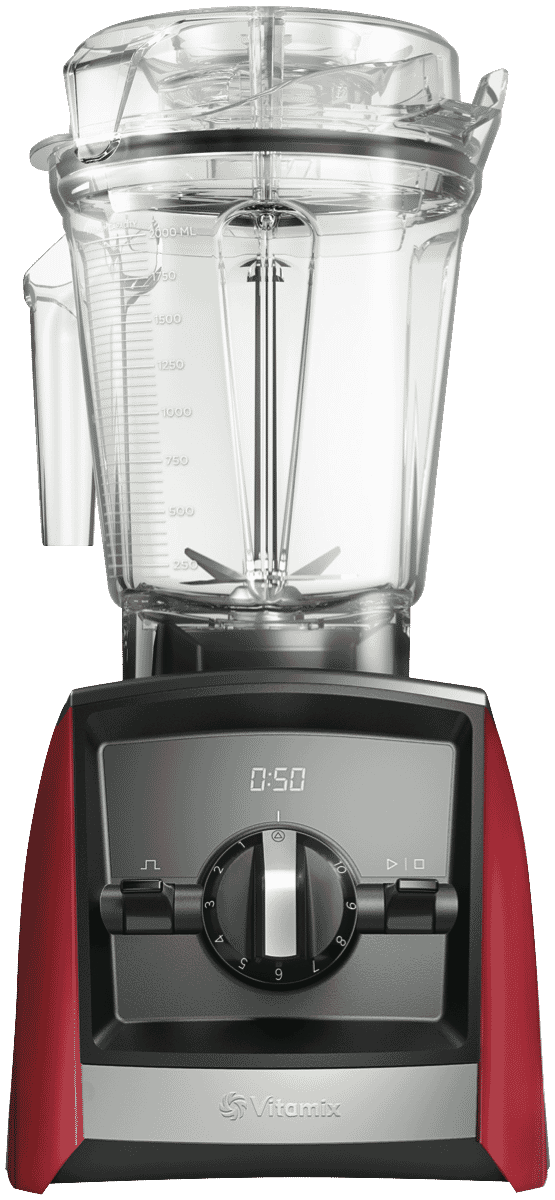 Ascent Series A2300i High-Performance Blender - Red