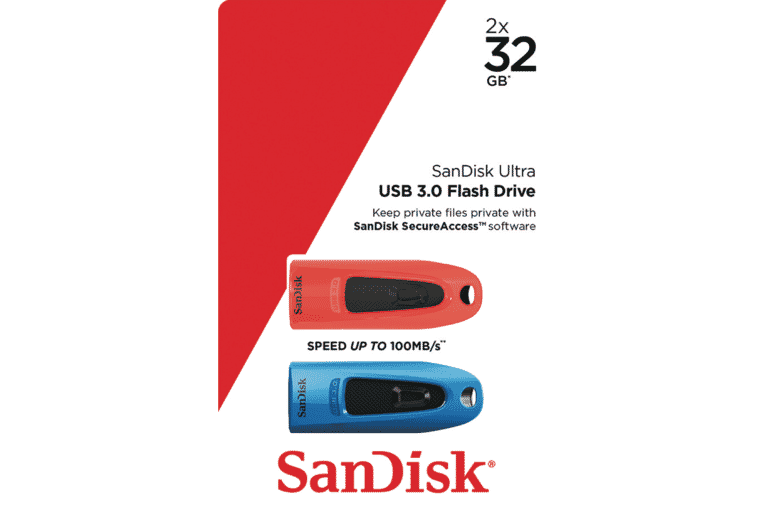 Sandisk SDCZ48-032G-G462 32GB Ultra USB FlashDrive Twin Pack at The Good  Guys