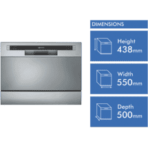 Technika Stainless Steel Bench Top DIshwasher