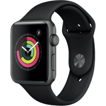 AppleWatch Series 3 GPS 42mm Space Grey Aluminium Case with Black Sport Band50062693