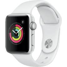 AppleWatch Series 3 GPS 38mm Silver Aluminium Case with White Sport Band50062699