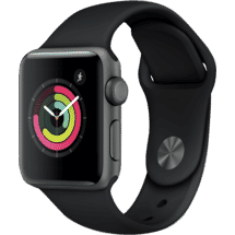 AppleWatch Series 3 GPS 38mm Space Grey Aluminium Case with Black Sport Band50062700