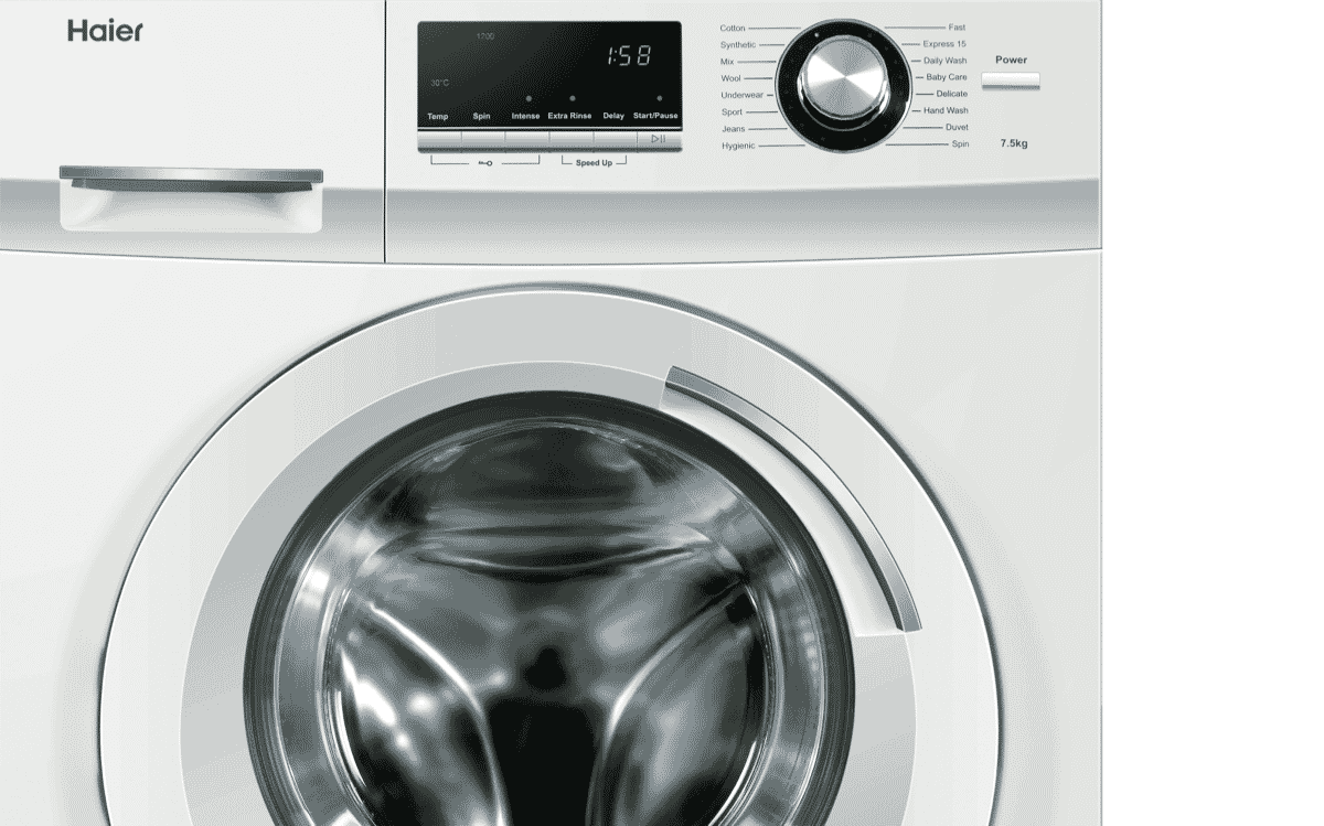 Haier Hwf75aw2 75kg Front Load Washer At The Good Guys Dryer Repair Diagram Additionally Wine Cooler Parts Has A High 45 Star Wels Rating Helping To Reduce Your Bills And Environmental Impact Whilst Leaving Clothes Feeling
