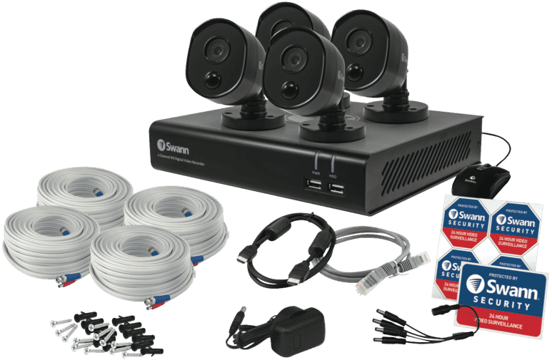 Swann 4309625 4 Camera Full HD 1080p DVR-4480 CCTV Security System at The  Good Guys