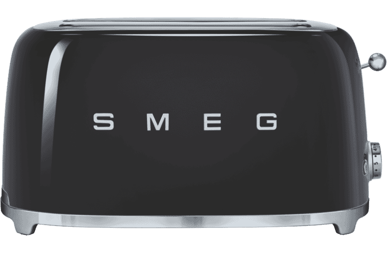 Smeg Tsf02blau 50s Retro Style 4 Slice Toaster Black At The Good Guys