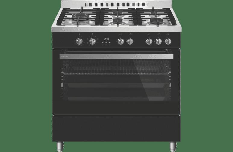 Omega 90cm Dual Fuel Upright Cooker  OF910FX