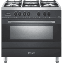 DeLonghi90cm Dual Fuel Upright Cooker Anthracite50072560