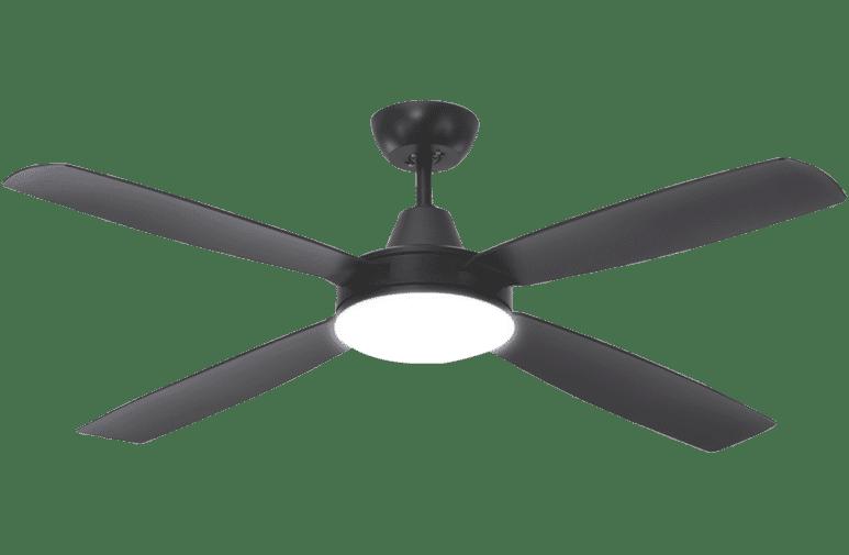 Mercator Fc708134bk 137cm Nemoi With Light Black Ceiling Fan At The Good Guys