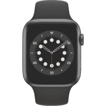 AppleWatch S6 44mm Space Grey AL Black SP CEL50072913